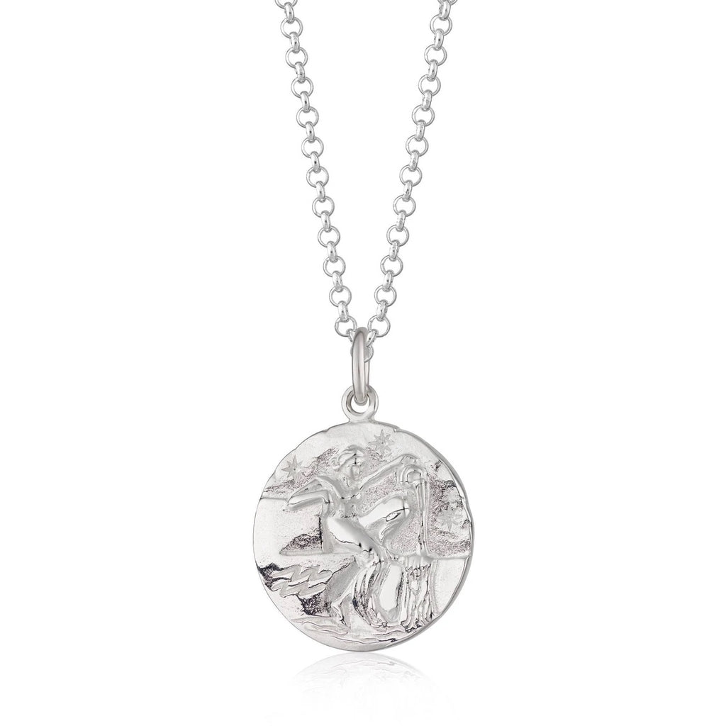 Aquarius zodiac necklace - Silver