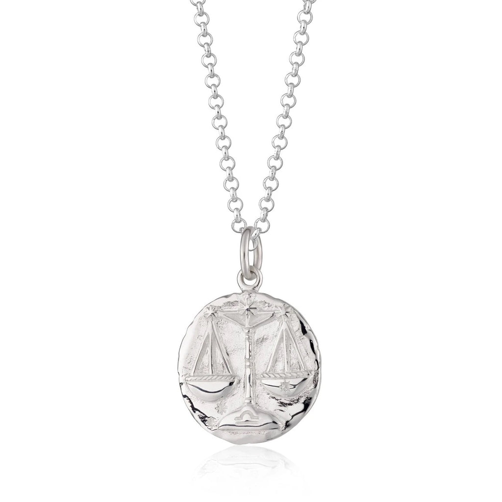 Libra Zodiac Necklace - silver
