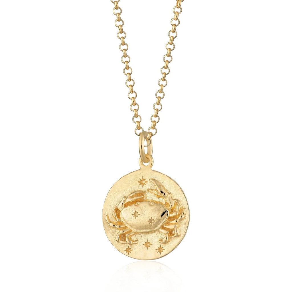 Cancer Zodiac Necklace - Gold