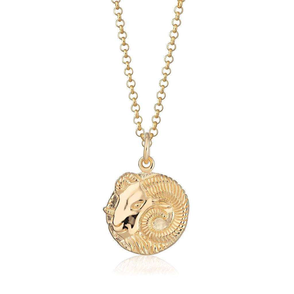 Aries Zodiac necklace- gold