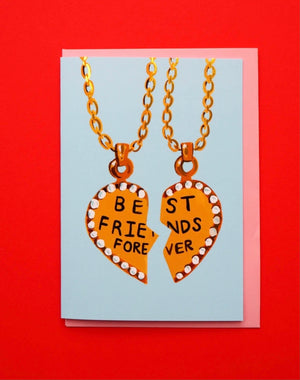 Best friends necklace card