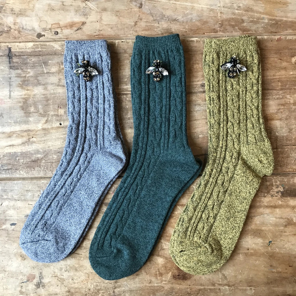 individual Cable knit socks - Boston