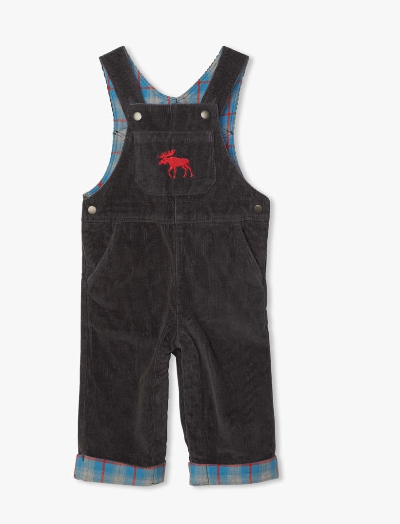 Stretch cord baby overalls