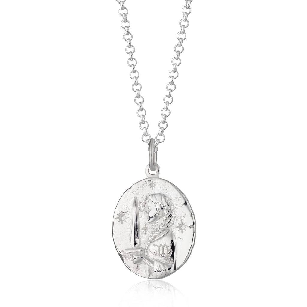 Virgo Zodiac Necklace - Silver