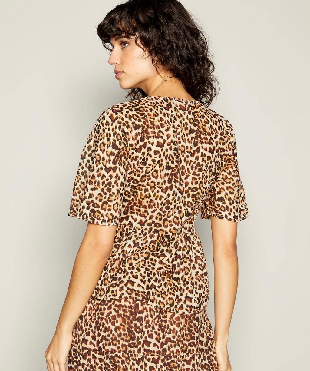 Notina 2/4 leopard print top