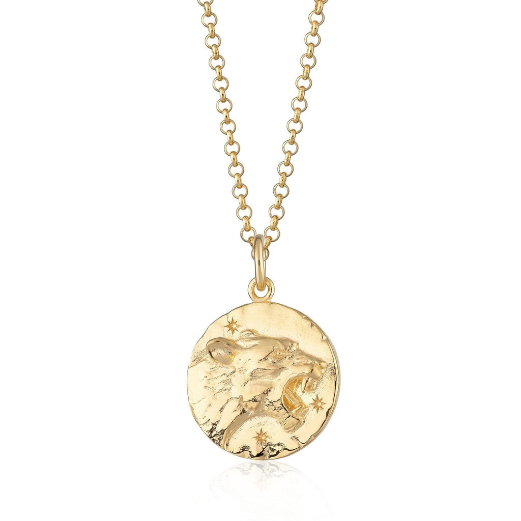 Leo Zodiac Necklace - Gold