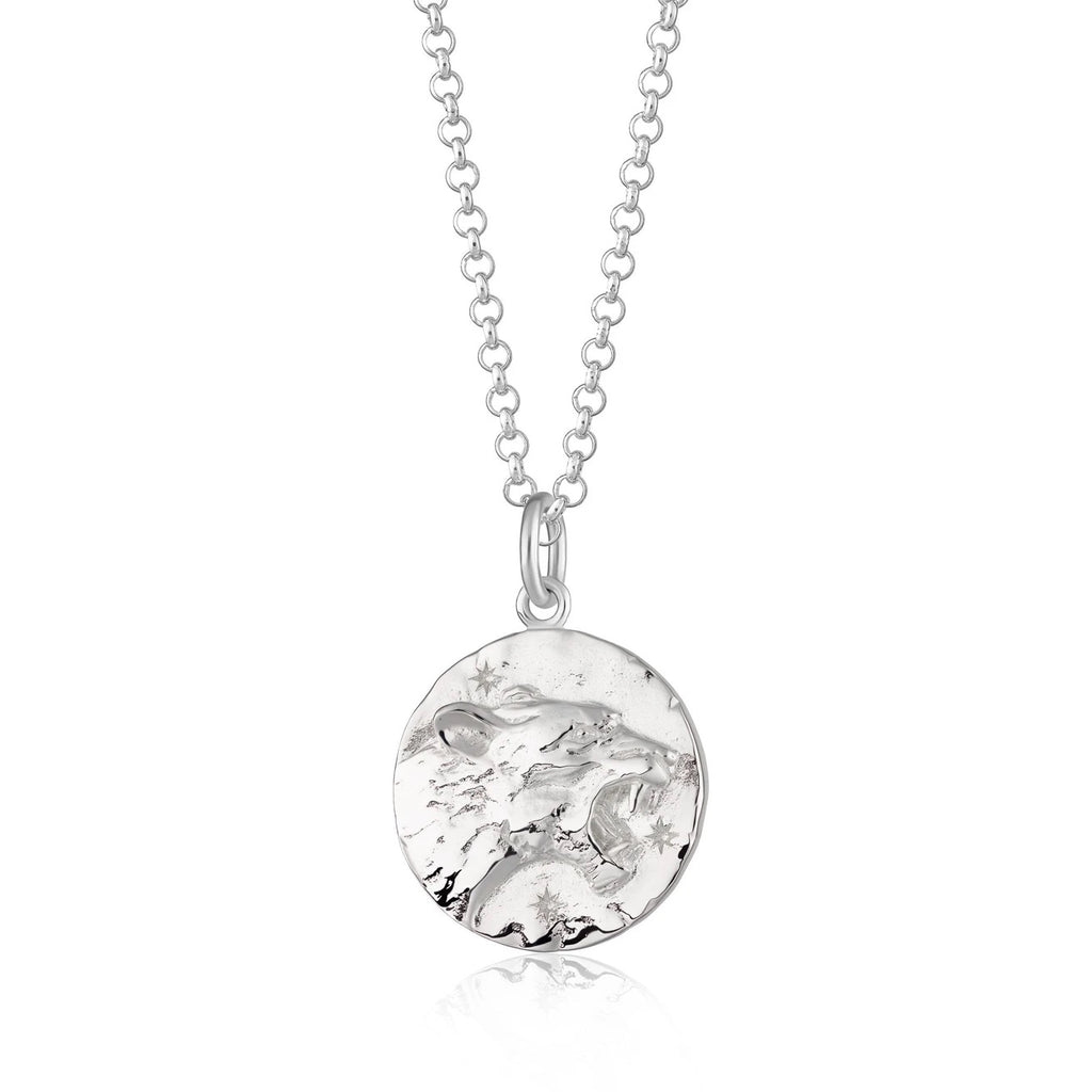 Leo Zodiac Necklace - Silver