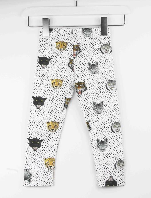 wild cats monochrome spot leggings