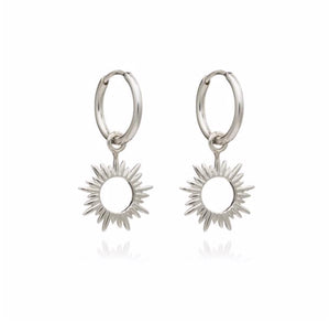 eternal sun mini hoops - silver