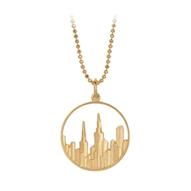 gold maze necklace, city design - pernille corydon