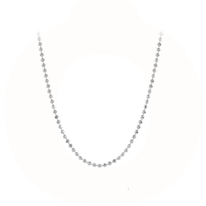 silver facet plain necklace - pernille corydon