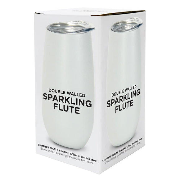Stainless steel insulated sparkling flutes - 5 Colours