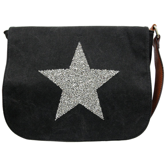 Star Power Canvas Cross Body Bag - 5 Colours