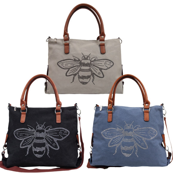 Queen Bee Canvas Bag