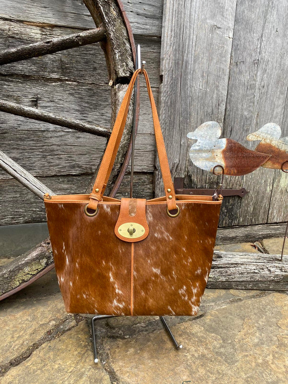 Rome cowhide leather shopper