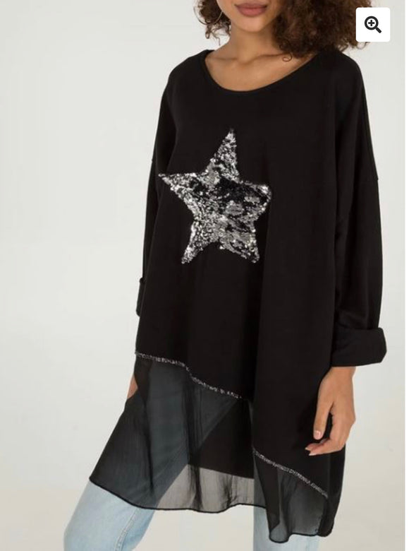 Vindi Italian star top metallic - 4 Colours