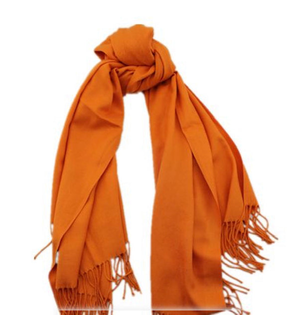 CASB plain Coloured Cashmere Scarf