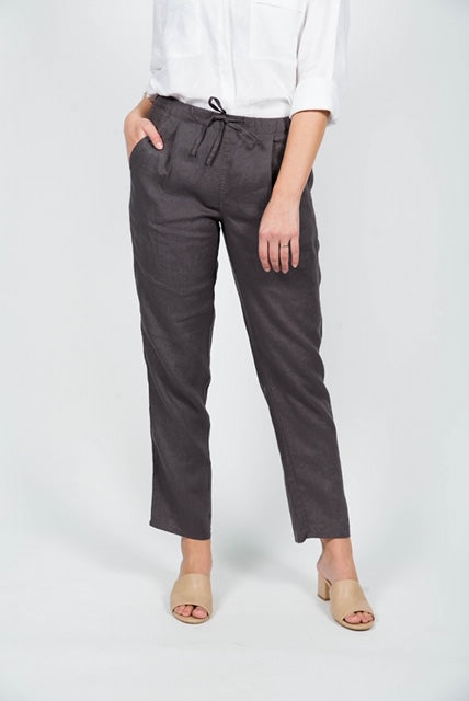 Linen Pants in Graphite