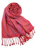Patterned silk blend pashmina - 6 Colours