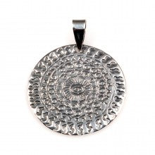Large Silver Disc Pendant