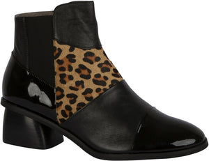Portobello Black Leopard Boot