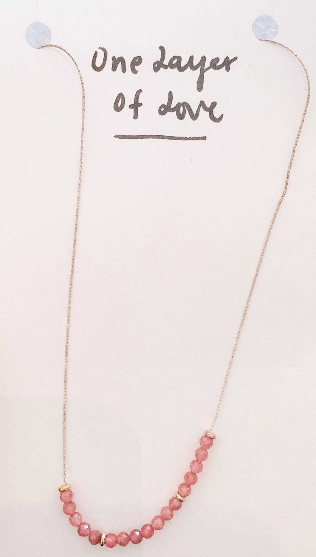 One Layer of Love Necklace