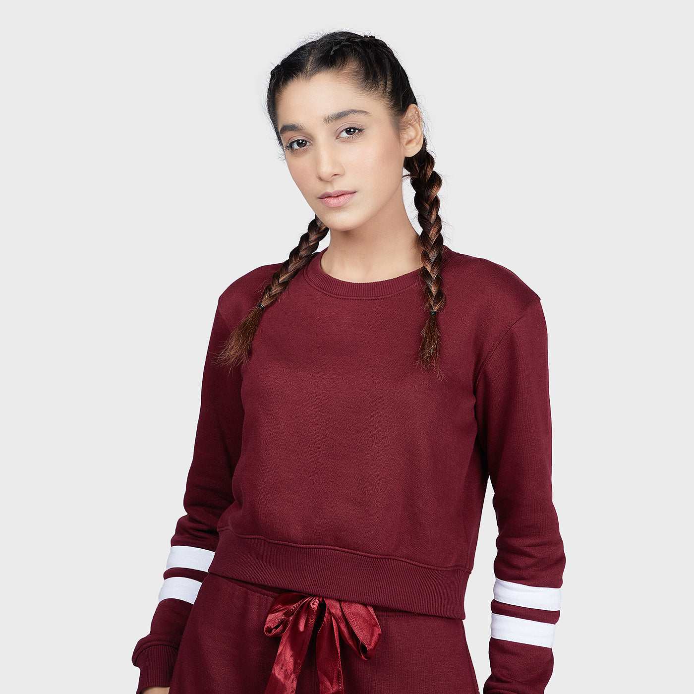 Fleece Crop Sweatshirt