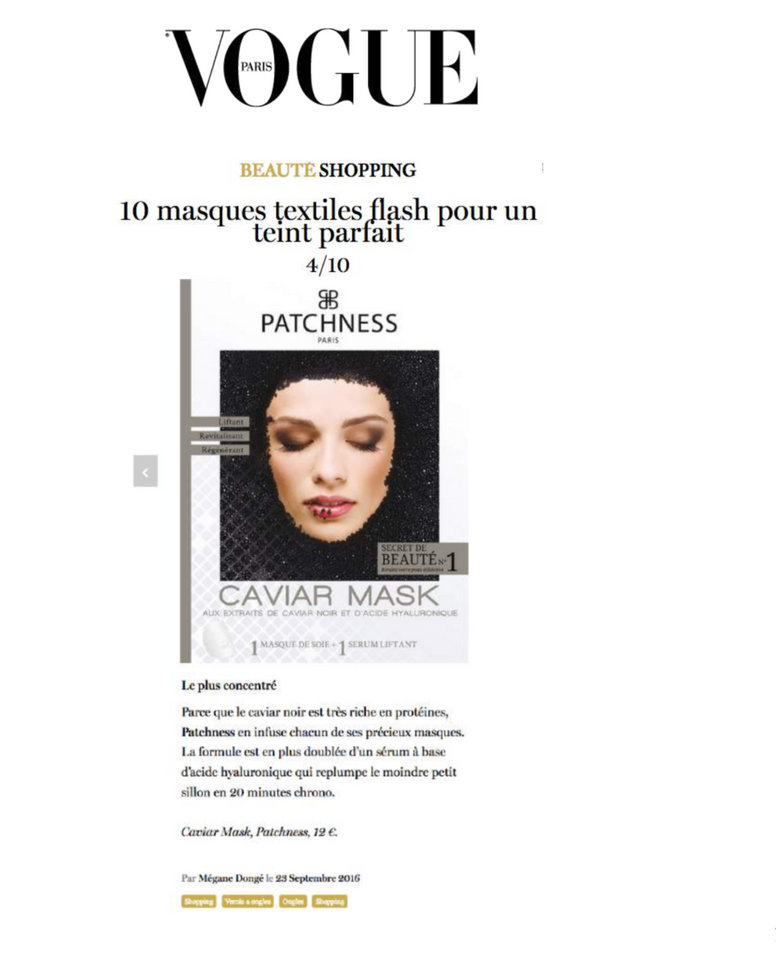Patchness Vogue Presse