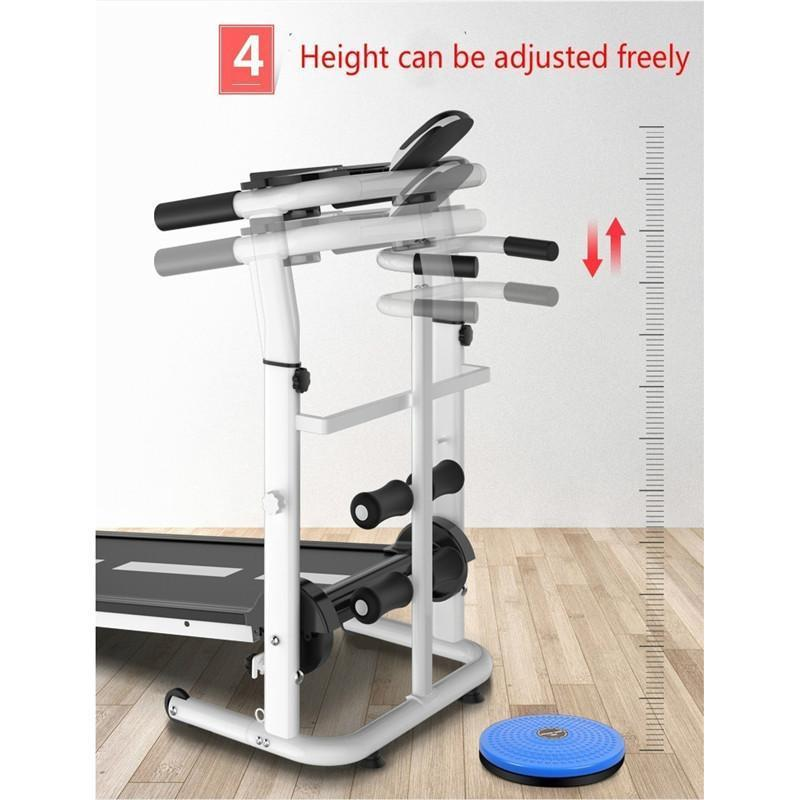 Household Quiet Fiteness Treadmill-Pink(without polling rope)
