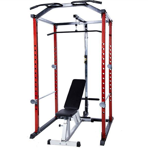 Squat Racks Gantry Frame Fitness Equipment With Dumbbell Stool