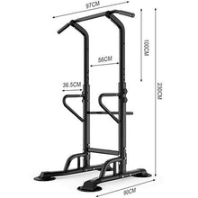 Load image into Gallery viewer, Power Tower Pull Up Bar Dig Station-441LBS Weight Capacity-Black