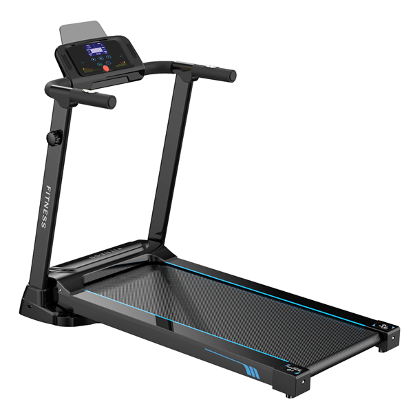 Multi-Function Folding Flat  Electric Treadmill-Black