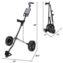 Load image into Gallery viewer, Foldable Golf Cart Trolley 2 Wheel
