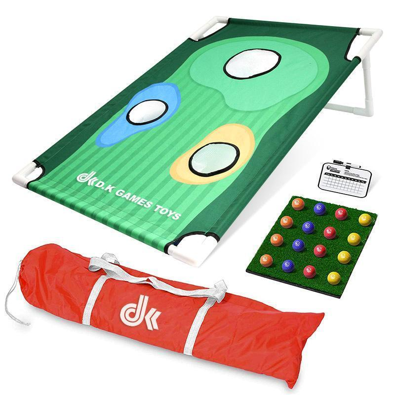 Golf Cornhole Practice Set | Ultra Portable | For All Ages & Abilities | Massfits