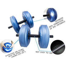 Load image into Gallery viewer, Water Filled Travel Adjustable Dumbbells Weight 20-25kg