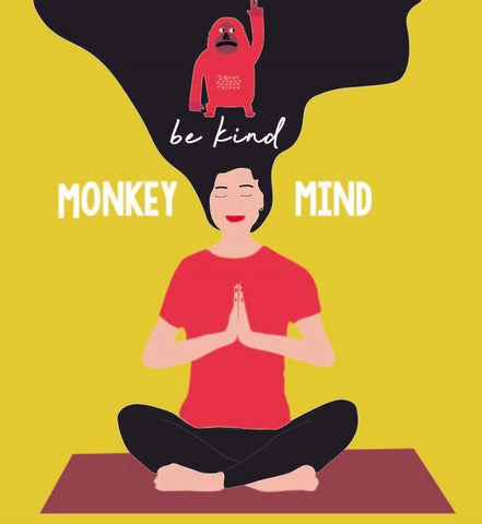 be kind monkey mind yoga sweatshirt