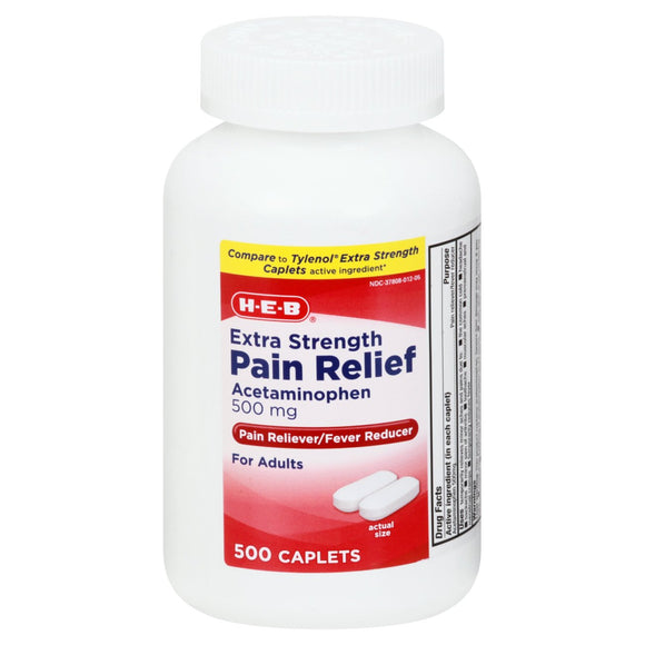 HEB Extra Strength Pain Relief (100 Caplets)