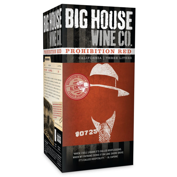 Prohibition Red - Big House Wine Co. Box