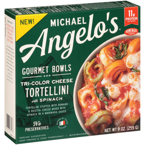 Tri-Color Cheese Tortellini w/ Spinach - Michael Angelo's