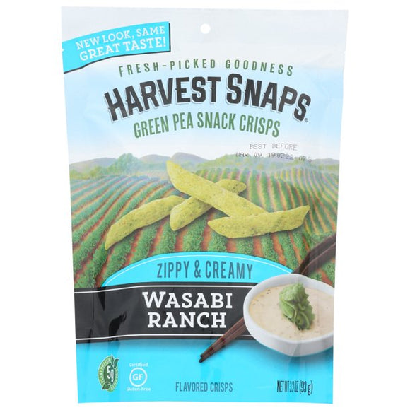 Harvest Snaps Green Pea Crisps - Wasabi Ranch