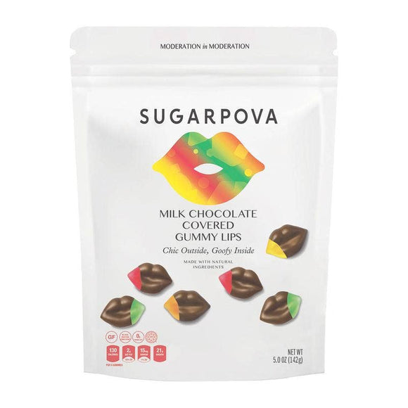 Chocolate Covered Gummy Lips - Sugarpova