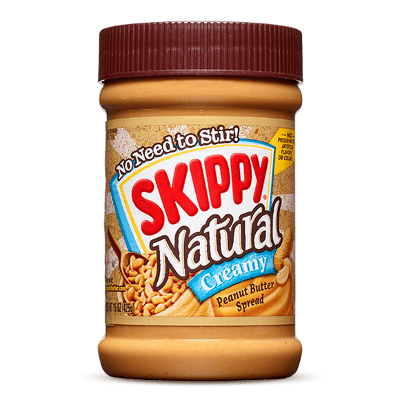 Skippy All Natural Creamy Peanut Butter