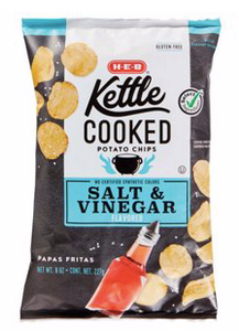 Salt & VINEGAR HEB Kettle Cooked Chips