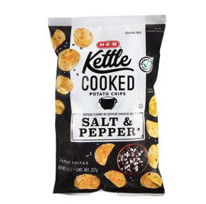 Salt & PEPPER HEB Kettle Cooked Chips