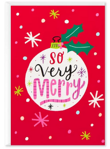 So Very Merry Card