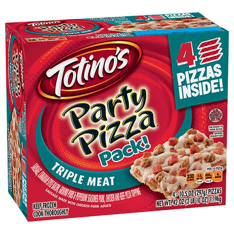 Totino's Party Pizza - Triple Meat (4 pack)