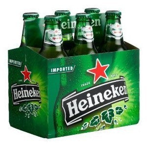 Heineken 6pack bottles