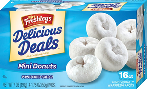 Mini Powdered Donuts 16ct.