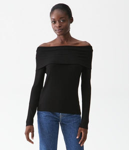 Michael Stars Elaine Ribbed Off The Shoulder Top