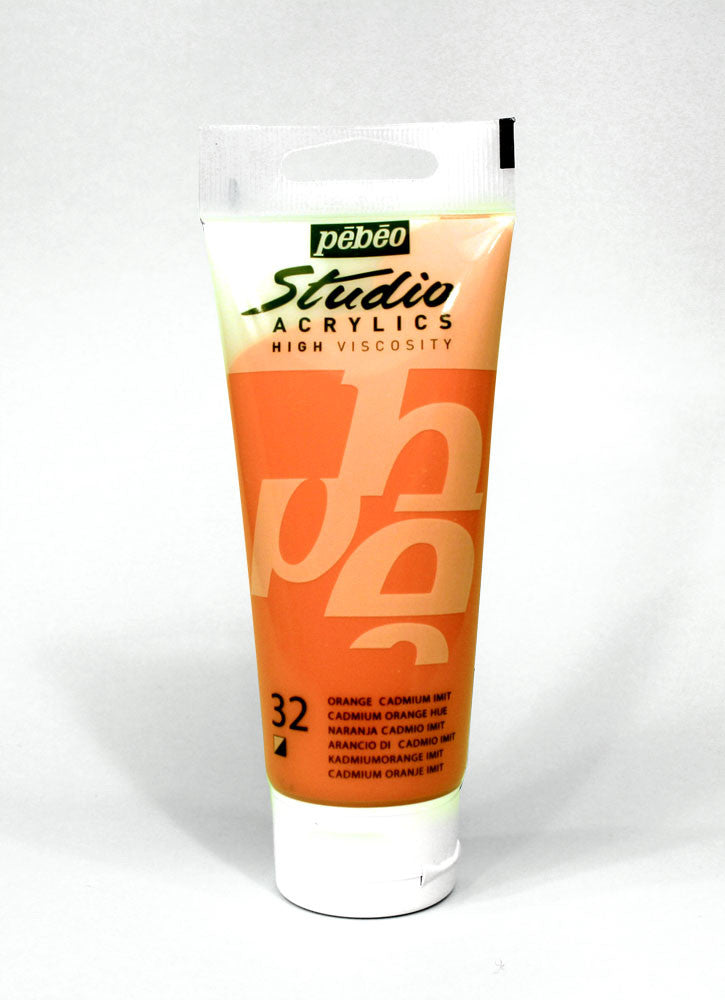 831032 CADMIUM ORANGE HUE 100ML ACRYLIC PAINT